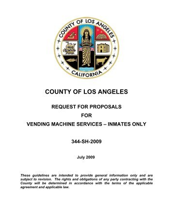 county of los angeles request for proposals for vending machine ...