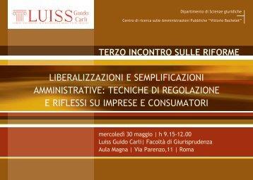 liberalizzazioni e semplificazioni amministrative ... - Federalismi.it