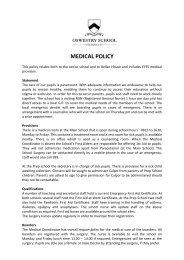 Medical Policy - Oswestry School