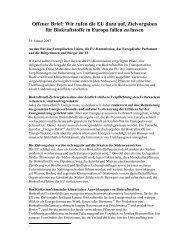 Offener Brief: Wir rufen die EU dazu auf, Zielvorgaben für ...