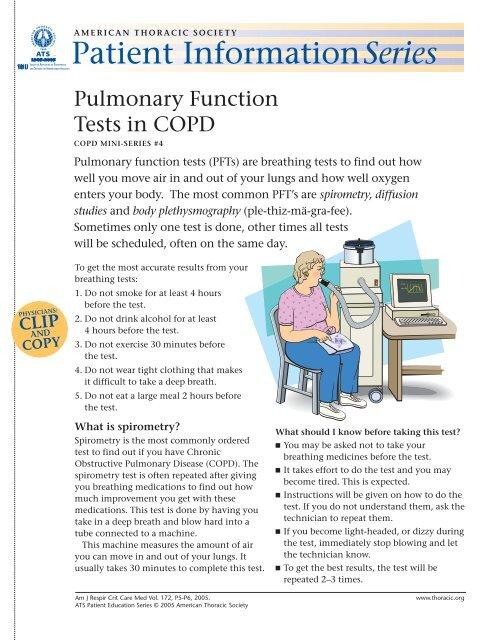 Pulmonary Function Tests in COPD - Patient Education & ATS PAR