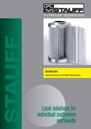 Guideline: Hydraulic Filtration That Meets Requirements - Stauff