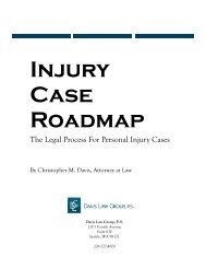 The Legal Process For Personal Injury Cases - Davis Law Group, P.S.