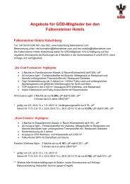 Angebote für GÖD-Mitglieder bei den Falkensteiner Hotels