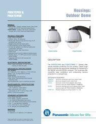 PODV7CPNS & PODV7CWNS Spec Sheet - Panasonic FTP