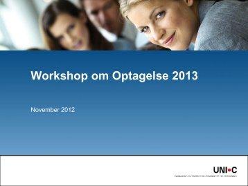 Præsentation i PDF format - Optagelse.dk
