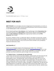 MEET FOR HAITI - BOS FOOD GmbH