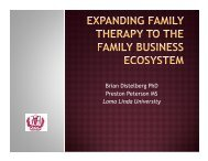 Expanding Family Therapy to the Family Business Ecosystem