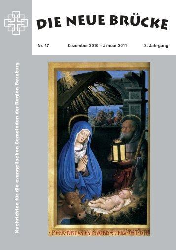 Dezember/ Januar 2010/2011 - Ev. Schlosskirchengemeinde ...