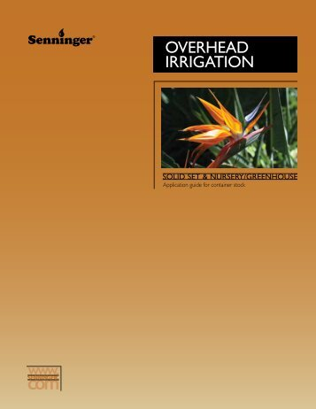 Overhead Irrigation Guide - Senninger Irrigation