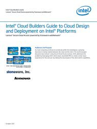 Intel® Cloud Builders Guide to Cloud Design and Deployment on ...