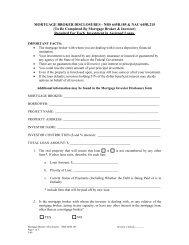 mortgage broker's disclosures - nrs 645b - Mortgage Lending ...
