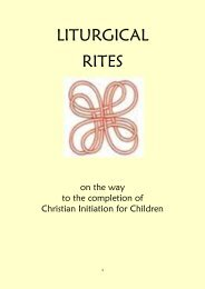 Liturgical Rites for CIC - Archdiocese of St Andrews and Edinburgh