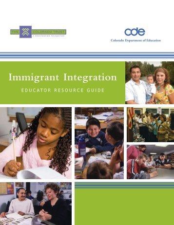 Immigrant Integration - Colorado Department of Education