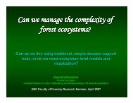 Can we manage the complexity of forest ... - Faculty of Forestry