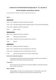 Invitation for the Nordic MLASC Championship 19. – 21. July 2013 ...