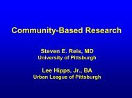 Community-Based Research - Office of Clinical Research, Health ...