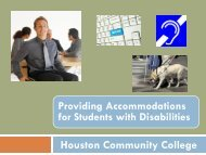 Working with Students with Disabilities - About HCC