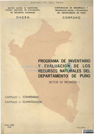 programa de inventario y evaluación de los recursos naturales del ...