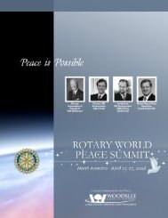 Rotary Peace Summit Brochures - Rotary Club of Windsor (1918)
