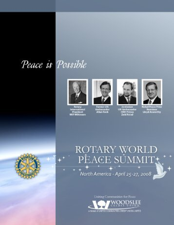 Rotary Peace Summit Brochures - Rotary Club of Windsor (1918)