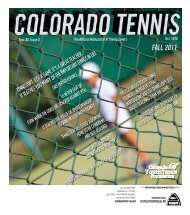 2011 Fall Issue (The CYTF at 50) - the Colorado Tennis Association