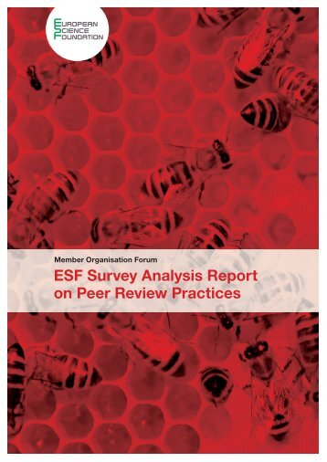ESF Survey Analysis Report on Peer Review Practices - European ...