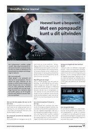 Met een pompaudit kunt u dit uitvinden - Grundfos E-Newsletter