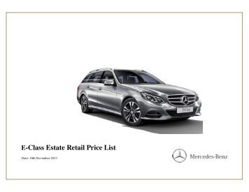 20130408 with photo final full retail price list 05 04 for Mercedes benz e class price list