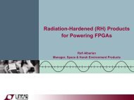 Radiation-Hardened (RH) Products for Powering FPGAs