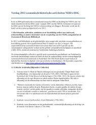 Verslag 2012 economisch-historische activiteiten NEHA-IISG