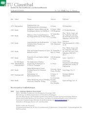 Jahr Arbeit Thema Autoren Publiziert 1979 Diplomarbeit ...
