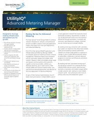 UtilityIQ® Advanced Metering Manager - Silver Spring Networks