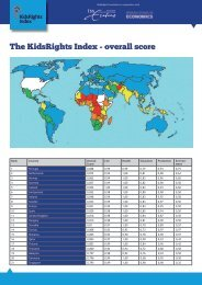 The KidsRights Index - overall score - juni 2014