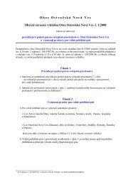 Důvodová zpráva: Podle § 24 odstavce 2 zákona č - Obec Ostrožská ...