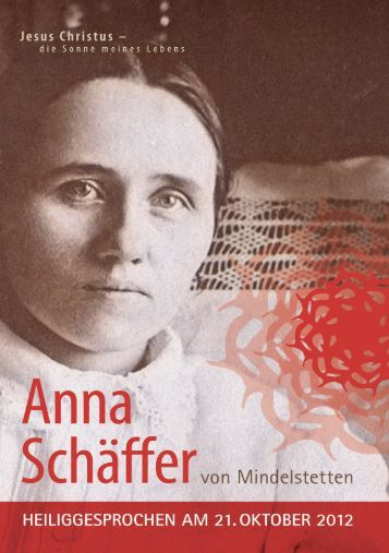 Gottesdienstvorschläge - Anna Schäffer