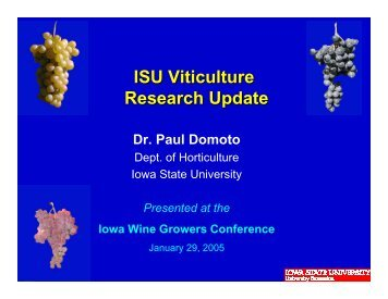 Slides 1-19 - Viticulture Iowa State University
