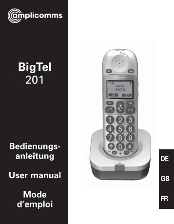 BigTel 201 User Guide - Hearing Direct