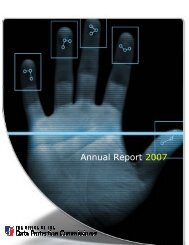 Annual Report 2007 Data Protection 10 April 2008 - States of Jersey