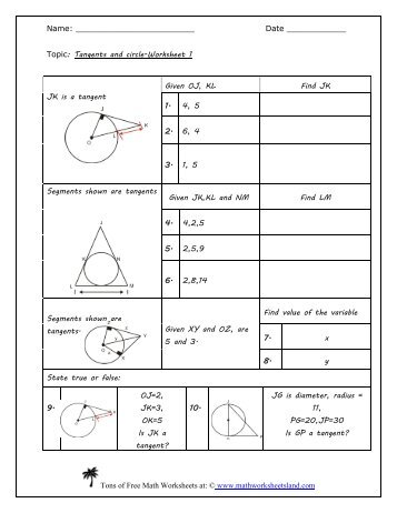 Worksheet Limits Tangent Planes