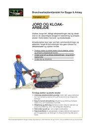 Faktablad for jord- og kloakarbejde - BAR Bygge & Anlæg