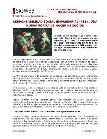responsabilidad social empresarial (rse).. una nueva forma ... - Sigweb