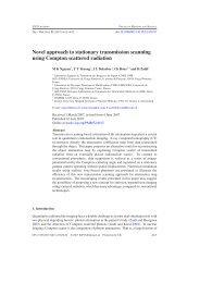 Novel approach to stationary transmission scanning ... - ETIS - ENSEA