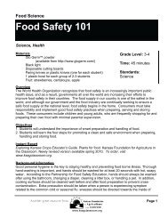 Food Safety 101 - Kansas Foundation for Agriculture in the Classroom