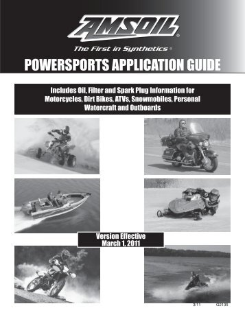 G2135 - Powersports Application Guide - Amsoil
