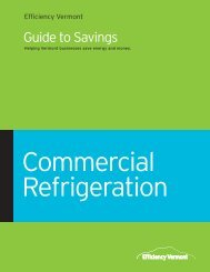 Refrigeration Guide to Savings - Efficiency Vermont