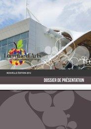 Dossier de présentation 2012 - Lorraine d'Arts