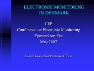 Electronic monitoring in Denmark