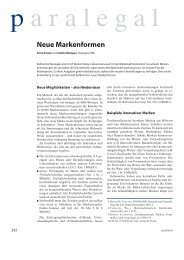 Neue Markenformen -  Swiss Paralegal Association
