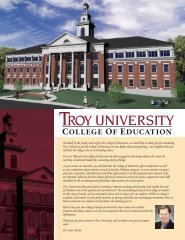 College of eduCation - Troy University SACS Reaffirmation of ...